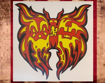 Gathering of the Juggalos Butterfly Vinyl Decal    Juggalo Juggalette Clown Love    Car GOTJ 2021 ICP Twiztid Psychopathic