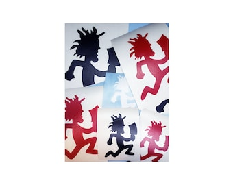 Hatchetman Vinyl Decal, Choose Size/Color     Juggalo Juggalette Clown Love    Car Gathering of the Juggalo ICP Twiztid Psychopathic, Family