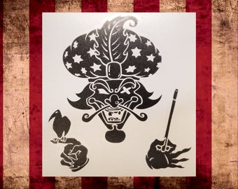 The Great Milenko Vinyl Decal,Choose Size/Color     Juggalo Juggalette Clown Love    Car Gathering of the Juggalo ICP Twiztid Psychopathic