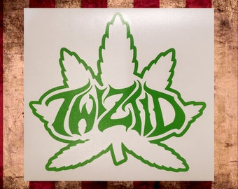 Twiztid Green Leaf Vinyl Decal, Choose Size/Color     Juggalo Juggalette Clown Love    Car Gathering of the Juggalo ICP Twiztid