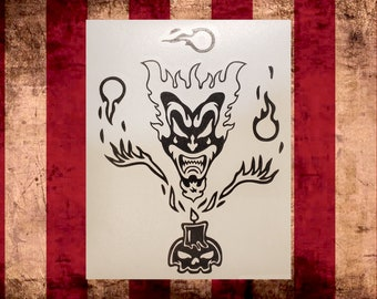The Amazing Jeckel Brothers Jack Vinyl Decal,Choose Size/Color     Juggalo Juggalette Clown Love    Car Gathering of the Juggalo ICP Twiztid