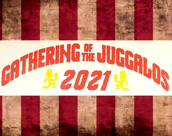 Gathering of the Juggalos 2021 Vinyl Decal    Juggalo Juggalette Clown Love    Car GOTJ 2021 ICP Twiztid Psychopathic