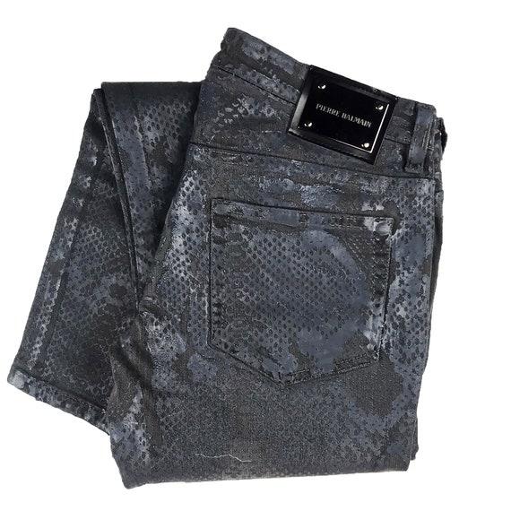 Pierre Balmain Snakeskin Print Jeans