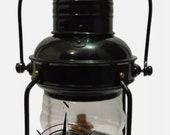 Nautical Antique Hanging Lantern Marine Anchor Ship Lamp Marine Oil Lamp Black Finish
