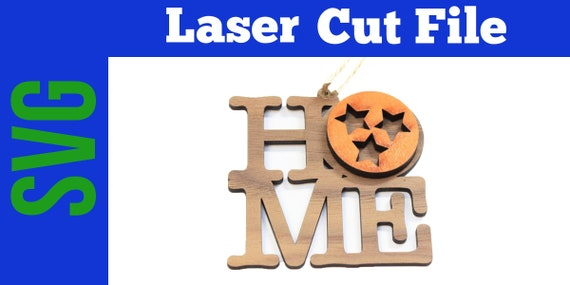 Tennessee Tri Star Christmas Ornament Glow Forge Laser Cut Svg Etsy