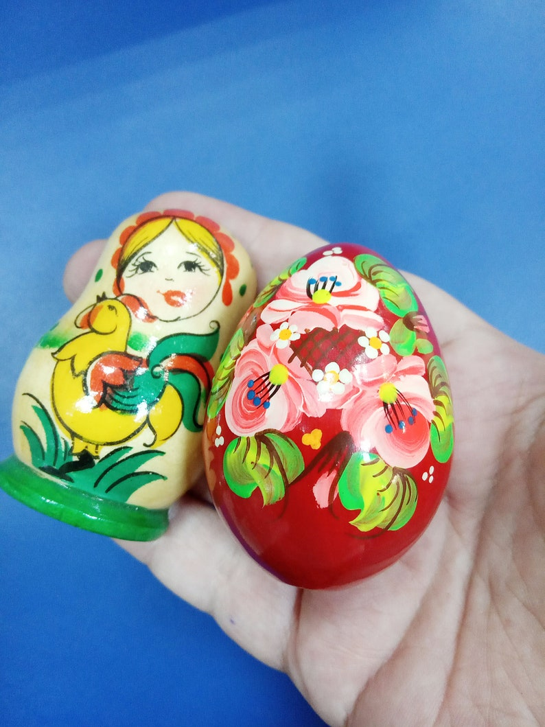 Easter egg Set 2 souvenir Magnet matryoshka