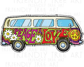 Hippie Van Clipart Etsy Find high quality van clipart, all png clipart images with transparent backgroud can be download for free! hippie van clipart etsy