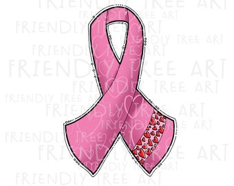 Breast Cancer Awareness Ribbon Png Png Files For Sublimation Etsy