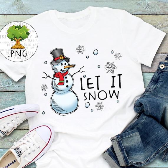 Let It Snow Snowman Png Snowman Clipart PNG Files For | Etsy