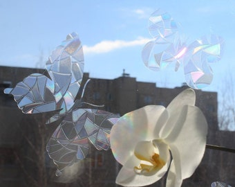 Butterflies Sun Catcher Sticker Pack - Rainbow Maker - Butterfly Decal Cling Set for Windows