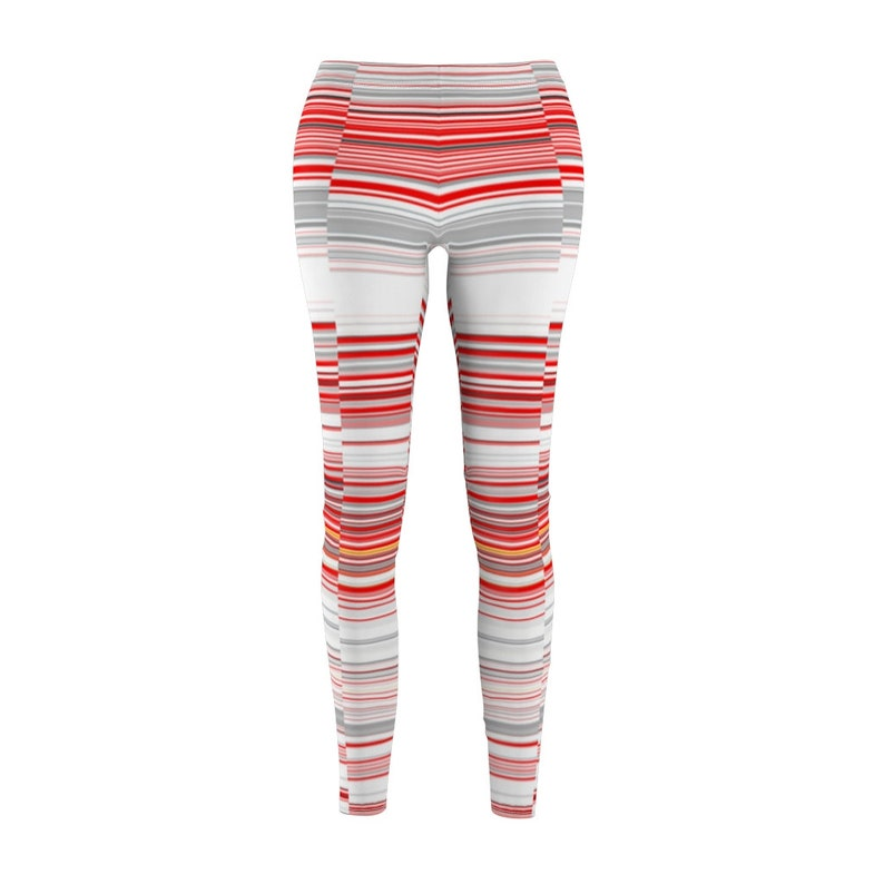 Fun Colorful Girls Leggings Original Artwork Women/'s Casual Leggings Red White Grey Athletic Sportswear Trendy Workout Legging