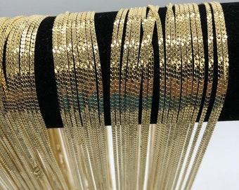 Cobra Herringbone Gold Tone Necklace and Matching Bracelet