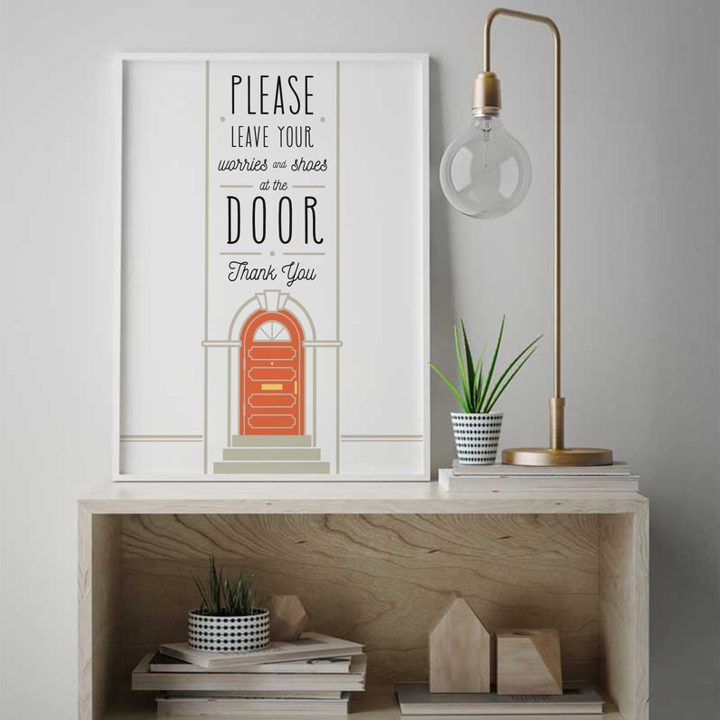 Remove Your Shoes Sign Poster Poster Home Entrance Quote Take Your Shoes Off Remove Shoes Poster Take Shoes Off Sign IP307 Funny Wall
