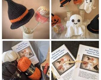 Halloween crochet pattern, Halloween crochet kit, crochet pumpkin pattern. Halloween crochet items, Halloween decor