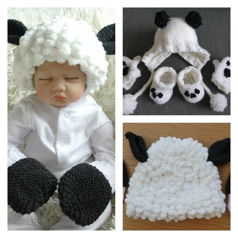 Toddler hat set hat and gloves Kids animal hats Panda hat
