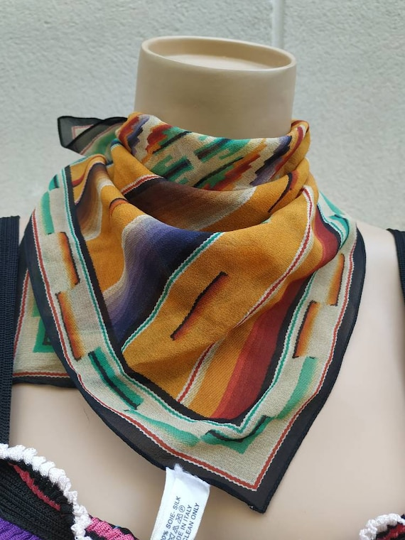 Christian Dior silk scarf with Chimayo print