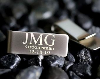 Personalized Money Clip, Custom Money Clip Engraved Money Clip Minimalist Gift Wedding Gift Groomsmen Proposal Gift Money Clip for Men