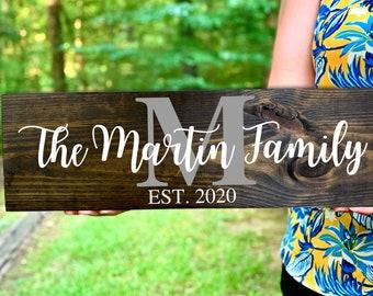 Last Name Sign, Wedding Gift, Family Name Sign, Anniversary Gift, Established Sign, Wood Sign, Wedding Sign, Monogram Sign, Est Sign, Wooden
