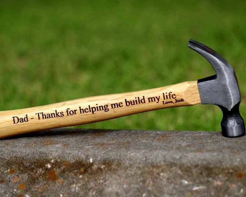 Engraved Hammer for Dad