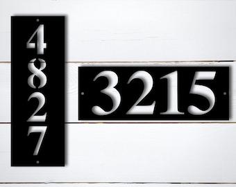 Metal Address Plaque, Address Sign, Metal Address Sign, House Numbers, Vertical Address Plaque, Horizonatal Address Sign, Address Number
