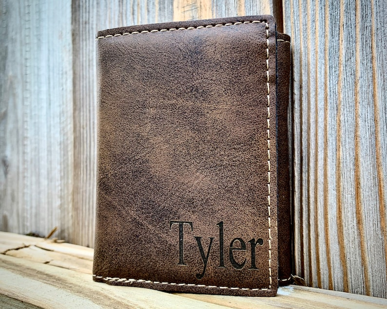 Leather Mens Wallet Leather Wallet Gift for Dad Wallets for Men Personalized Personalized Mens Wallet Trifold Mens Wallet RFID Wallet