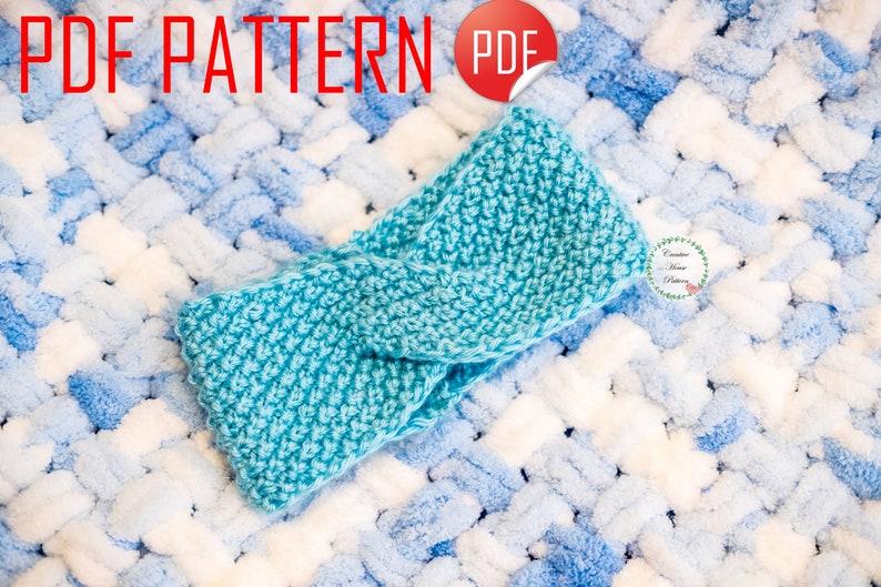 Baby Headband Knitting Pattern PDFKnit Turban ...