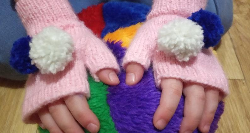 Baby Fingerless Gloves Knitting Pattern,PDF Knitting Pattern,Kids Mittens,Gloves Knit Pattern,Knit Mitten Pattern,Girls Mittens Pattern PDF