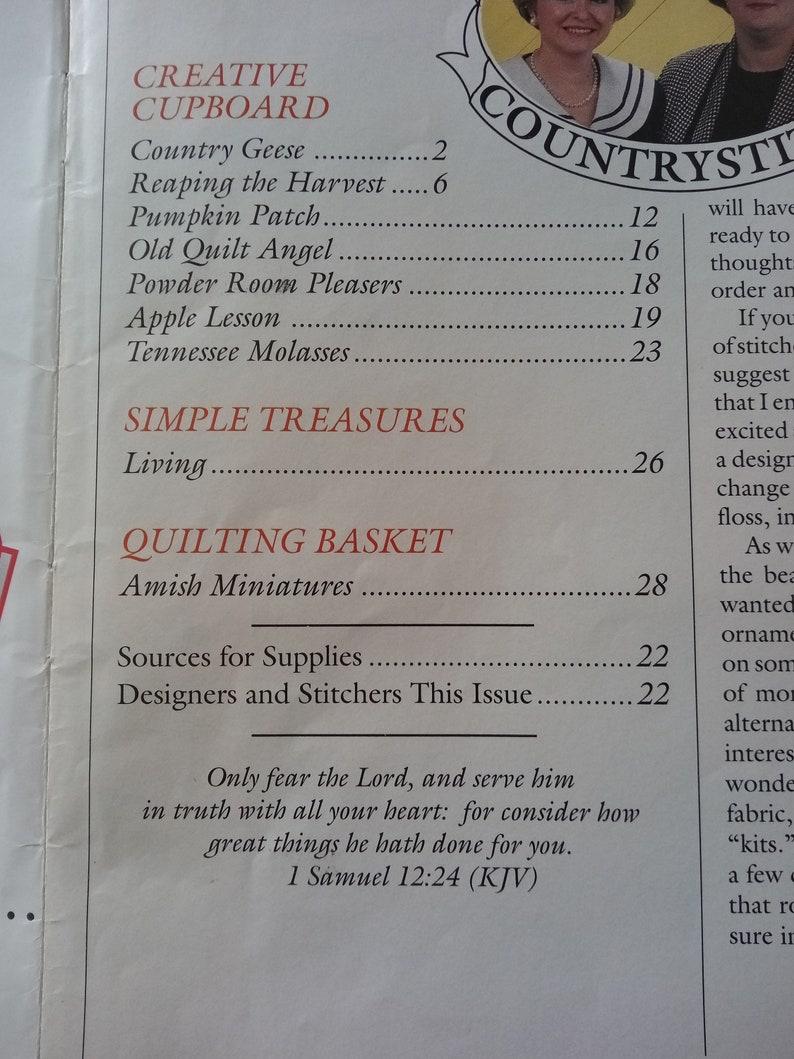 Country Stitch Magazine SeptOct 1992