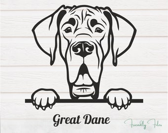 Great Dane Cut File Gentle Giant Svg Png Eps Dxf Great Dane SVG Great Dane Decal SVG Giant Dog Svg Big Dog Svg Great Dane Clip Art SVG