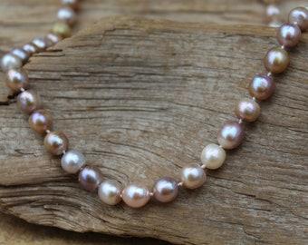 Golden Bronze Pearl Necklace