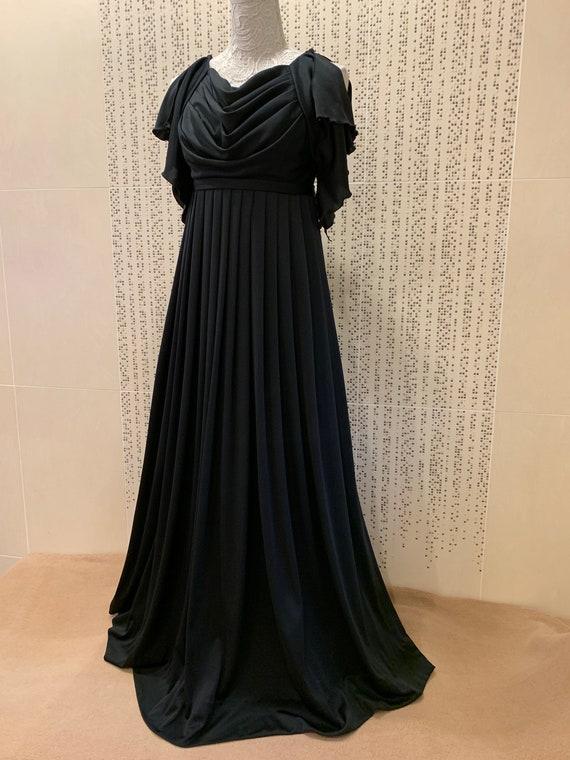 Stunning Vintage JEAN VARON Black Grecian-inspired