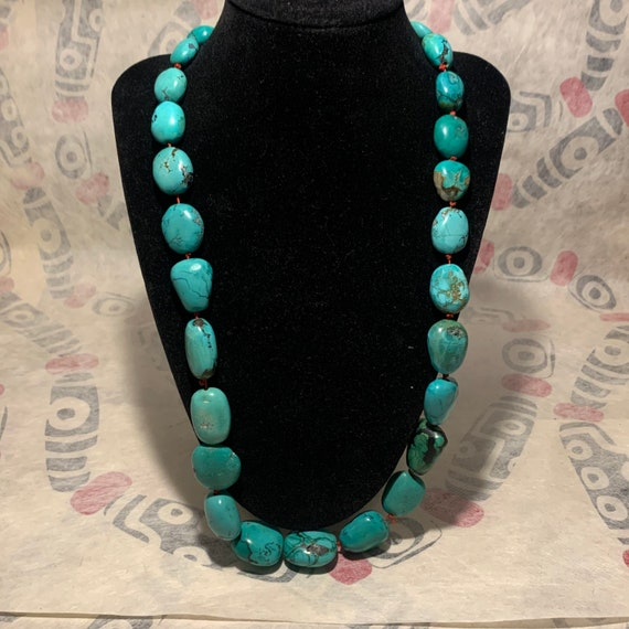 Antique Turquoise Tibetan bead necklace