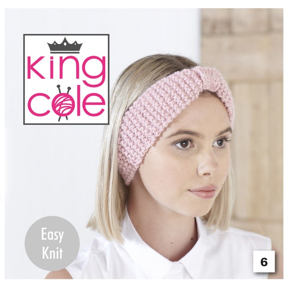 Knitting Pattern Ladies Winter Headbands King Cole Womens Aran Chunky /& DK 5464