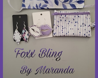 Earring giftsets, Face Mask, FoxxBling, Coin Purse