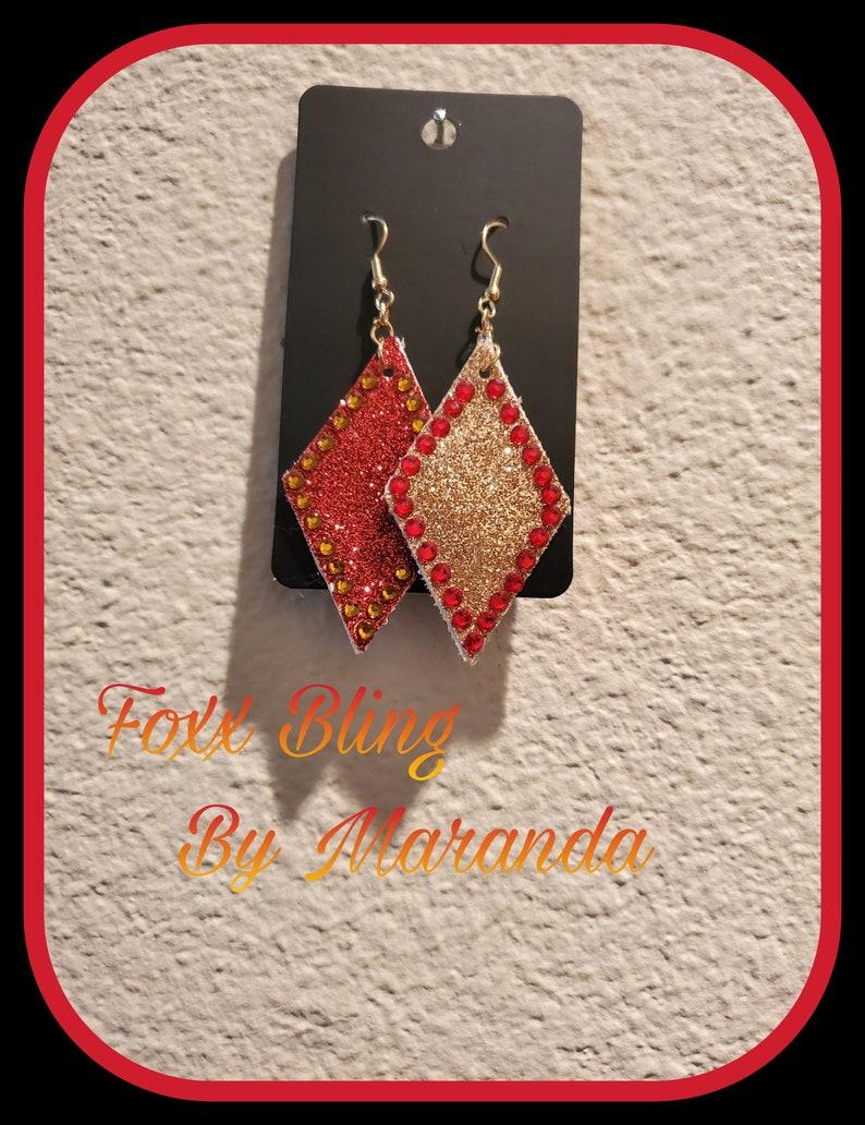 Diamond Shaped Reversible Foxx bling