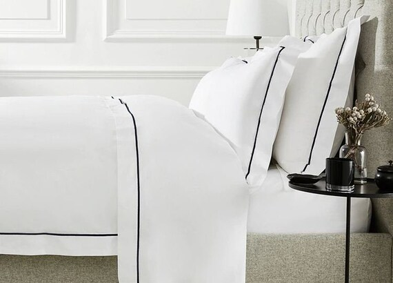 Hotel Quality 100 Cotton White Solid Pattern 1 Piece Duvet Etsy