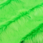 Fursupply - Faux Fur Yardage - Solid LIME - Bright Vivid Neon Green Soft Plush Thick Luxury By the Yard