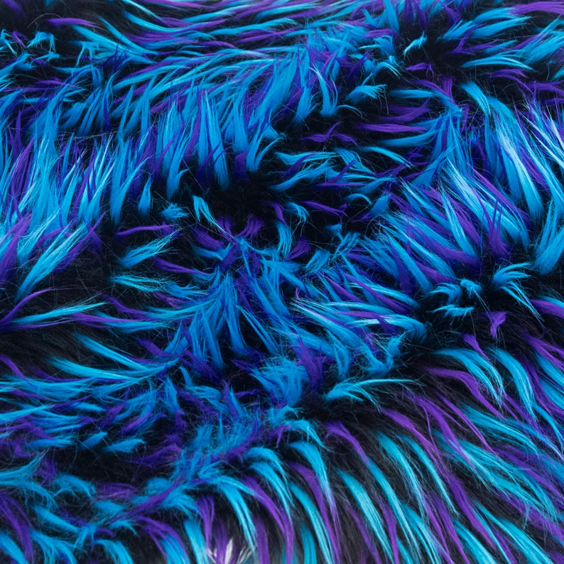 Fursupply  Faux Fur Yardage  Plug Fur TWILIGHT  Black image 0
