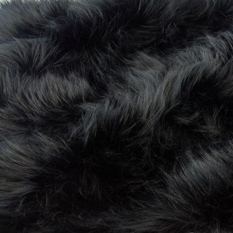 Fursupply  Faux Fur Yardage  Solid BLACK  Dark Pitch medium image 0