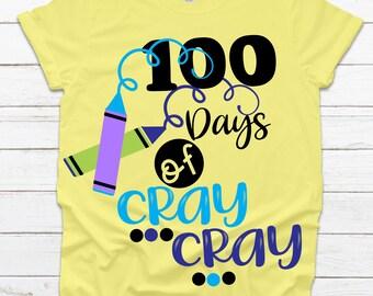 dxf Cut File eps 100 Days of School svg 100 Days of Cray Cray svg 100th day svg School Shirt Teacher Shirt Teacher svg Grunge svg