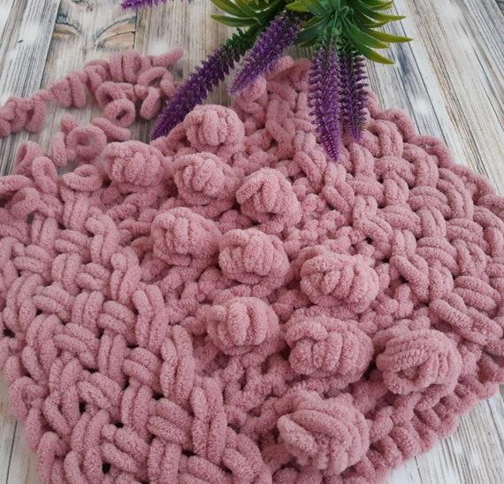 Knitting Instructions Plush Plaid From Loop Yarn Pattern Etsy
