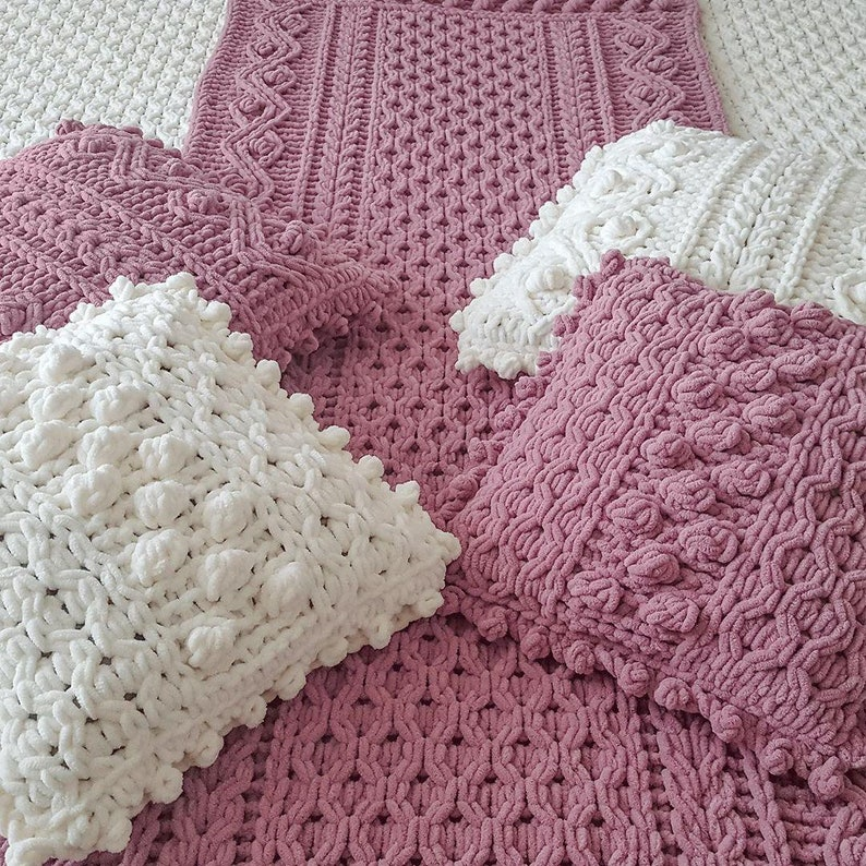 Bed runner pattern Bed runner scarf. Cable knit blanket   Etsy