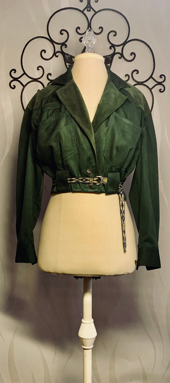 80's Jacket Green Original Cool Crop Style