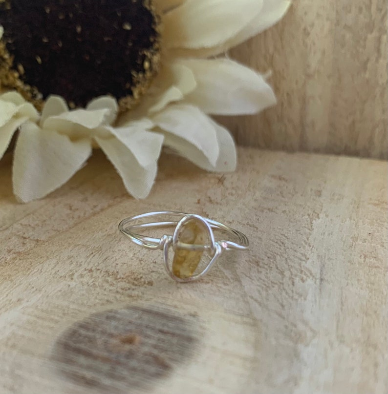Wire Wrapped Ring Wire Ring Wire Jewelry Wire Gemstone Rings