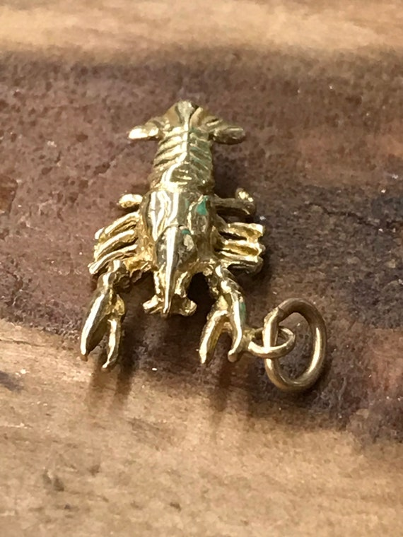 10k Yellow Gold Lobster Charm or Pendant, Vintage