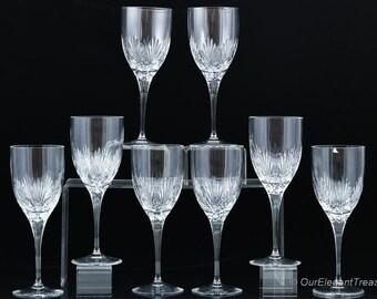 Vintage PEILL and PUTZER Heavy Cyt Crystal Glasses SET 6 1990s Germany