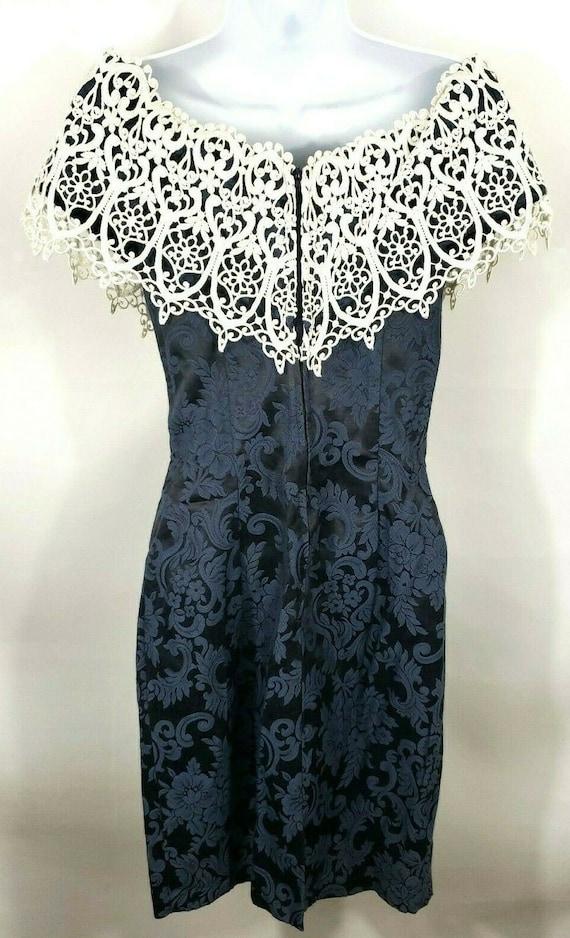 Gunne Sax Jessica McClintock Vintage Blue Doily S… - image 3