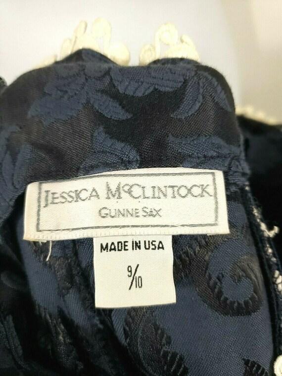 Gunne Sax Jessica McClintock Vintage Blue Doily S… - image 7