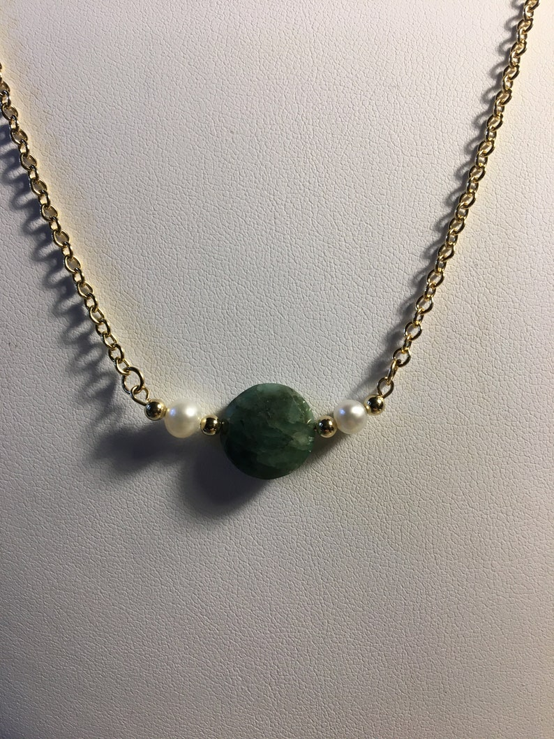 HEAVENLY GEMS One Gem Stone Necklace Emerald Emerald Earrings Set Revelation 21-4th Foundation