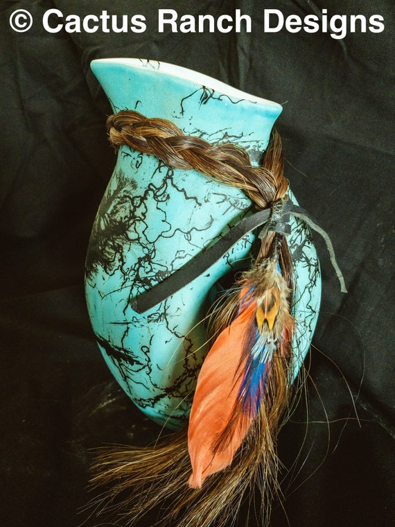 Custom Horse Hair Pottery Pitcher FREE SHIPPING